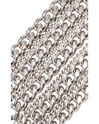 Saint Laurent Metallic Multistrand Chain Bracelet