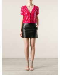 Twin Set | Pink Sequin Cardigan | Lyst