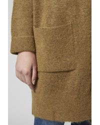 TOPSHOP Brown Slouchy Mohair Cardigan
