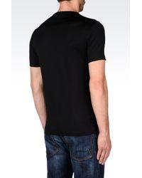 Emporio Armani   Black T-shirt In Pima Cotton Jersey for Men   Lyst