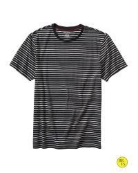 Banana Republic - Black Factory Stripe Tee for Men - Lyst