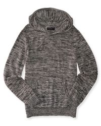 Aéropostale | Black Space Dye Pullover Sweater Hoodie | Lyst