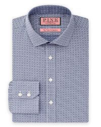 Thomas Pink | Blue Bartlett Texture Dress Shirt - Regular Fit for Men | Lyst