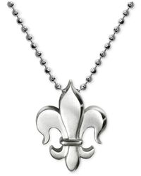 Alex Woo | Metallic Little Faith Fleur De Lis Pendant Necklace In Sterling Silver | Lyst