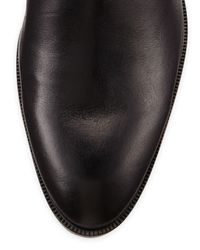 Elliott Lucca Black Erupt Layered Leather Over-the-knee Boot