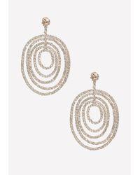 Bebe - Metallic Pave Multi-circle Earrings - Lyst