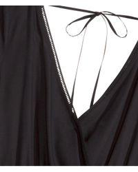 H&M Black V-neck Tunic