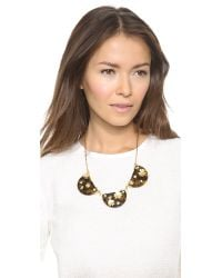 Marc By Marc Jacobs - Black Stuck On You Bib Necklace Tortoise Multi - Lyst