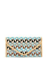 Natasha Couture | Black Natasha Geometric Pattern Clutch | Lyst
