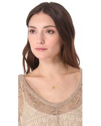 Gorjana | Metallic Birthstone Crystal Necklace - December | Lyst