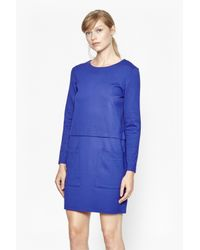 French Connection | Blue Northern Jersey Jumper Dress | Lyst