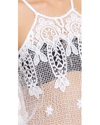 Miguelina Cicely Cover Up Romper - Pure White