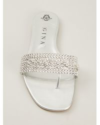 Gina Metallic 'Athena' Sandals
