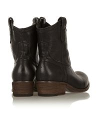 Frye Black Carson Textured-leather Ankle Boots