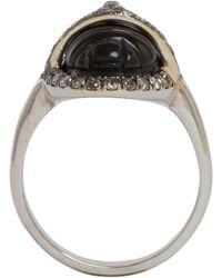 Sidney Garber Grey Diamond, Black Jade & Rhodium-Finished White Gold Scarab Ring