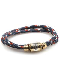 Miansai | Blue Navy & Red Casing Bracelet for Men | Lyst