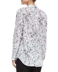 Lafayette 148 New York - Multicolor Babette Long-sleeve Floral-print Blouse - Lyst
