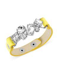 Steve Madden - Yellow Strap Snap Bracelet  - Lyst