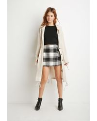 Forever 21 - Natural Contemporary Drapey Drawstring Utility Jacket - Lyst