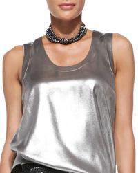 Brunello Cucinelli - Black Multi-strand Hematite Choker Necklace - Lyst