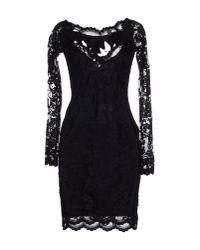 Balensi - Black Short Dress - Lyst