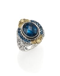 Konstantino | Thalassa London Blue Topaz, 18k Yellow Gold & Sterling Silver Ring | Lyst
