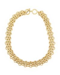 T Tahari - Metallic Gold-Tone Intertwined Necklace - Lyst