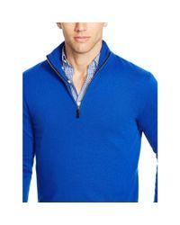 Polo Ralph Lauren | Blue Cashmere Half-zip Sweater for Men | Lyst