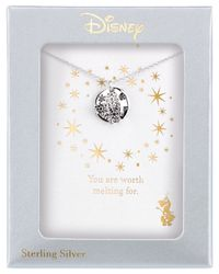 Disney | Metallic Engraved Frozen Snowflake Pendant Necklace In Sterling Silver | Lyst