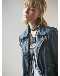 Free People | Black Sun And Glory X Womens Two Moons Leather Necklace | Lyst
