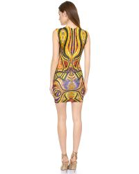 Torn By Ronny Kobo Multicolor Morgan Dress Gold Multi