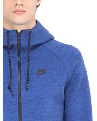 Nike Blue Zip-up Cotton Blend Sweatshirt