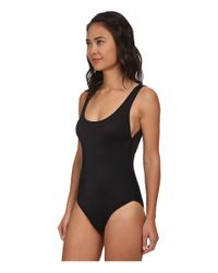 DKNY Black Tank Maillot W/ Removable Soft Cups