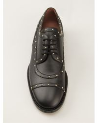 Valentino Black Studded Lace-up Shoes