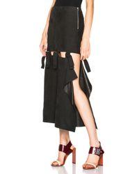 Acne Studios | Black Hein Leather Skirt | Lyst