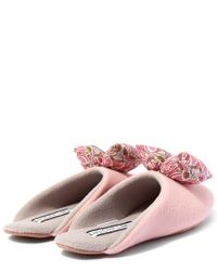 Liberty | Pink Mauverina Big Blow Slippers | Lyst