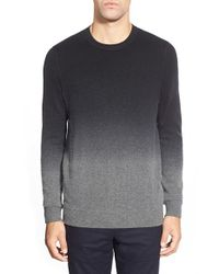 VINCE | Black Dip Dye Crewneck Sweater for Men | Lyst