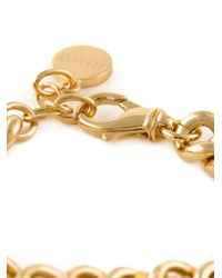Versace - Metallic Coin Charms Medusa Bracelet - Lyst