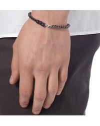 Yuvi - Black Diamond and Glass Bead Bracelet for Men - Lyst