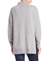 Free People | Gray Jolene Cotton Pullover | Lyst