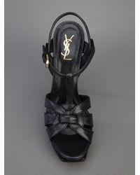 Saint Laurent   Black 'tribute' Sandals   Lyst
