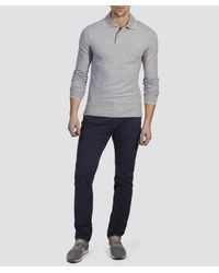 Armani Jeans | Gray Regular Fit Tipped Logo Polo for Men | Lyst