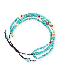 Tai - Blue Faceted Turquoise Silk Cord Bracelet - Lyst