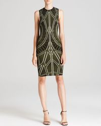 Ronny Kobo Green Torn By Dress - Claudia Ceremonial Jacquard
