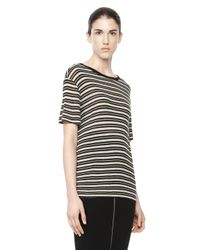 Alexander Wang | Multicolor Stripe Linen Short Sleeve Tee | Lyst