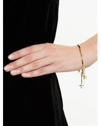 Chloé - Metallic Cross, Fork And Harlow Charm Bracelet - Lyst