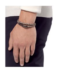 Tod's Red Woven-Leather Wrap Bracelet for men