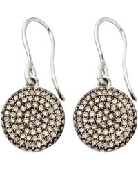 Astley Clarke | Small Icon 14ct White Gold Drop Earrings | Lyst