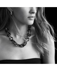 David Yurman - Metallic Oval Extralarge Link Necklace - Lyst