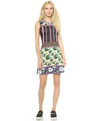 Clover Canyon - Floral Collage Dress - Yellow - Lyst